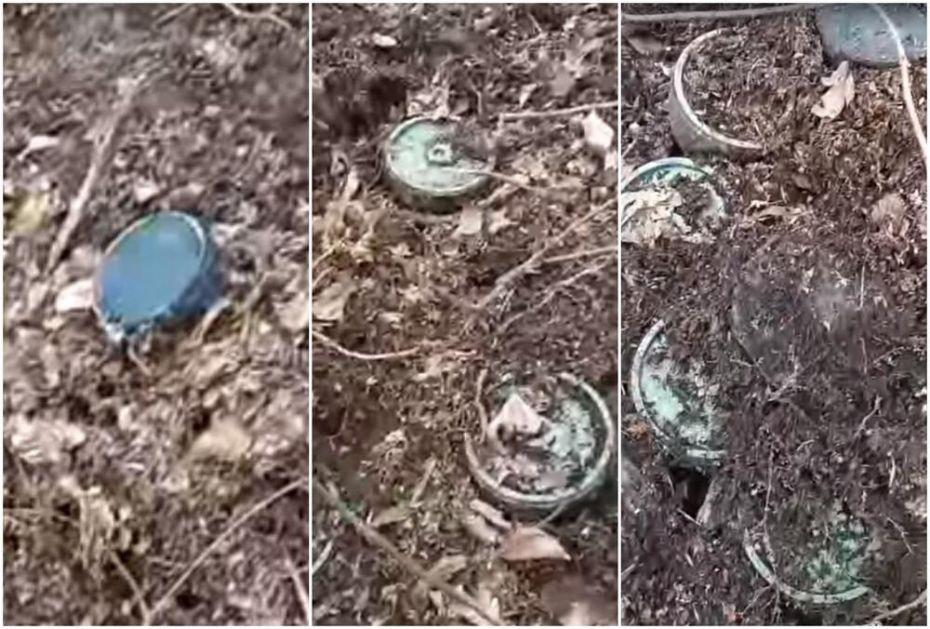 OTKIDA NOGU DO KOLENA: 22 protivpešadijske antimagnetne mine PMA-3 pronađene u brdima iznad sela Semizovac VIDEO