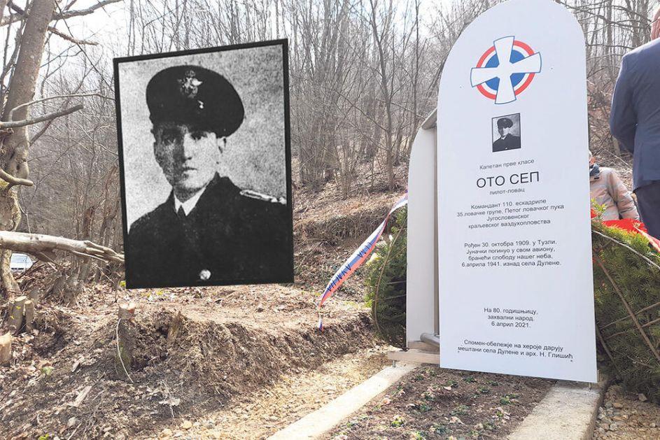 OTO SEP JUNAČKI DAO ŽIVOT ZA OTADŽBINU: Srbi podigli spomenik Nemcu koji je jurišao na eskadrile Trećeg rajha i poginuo