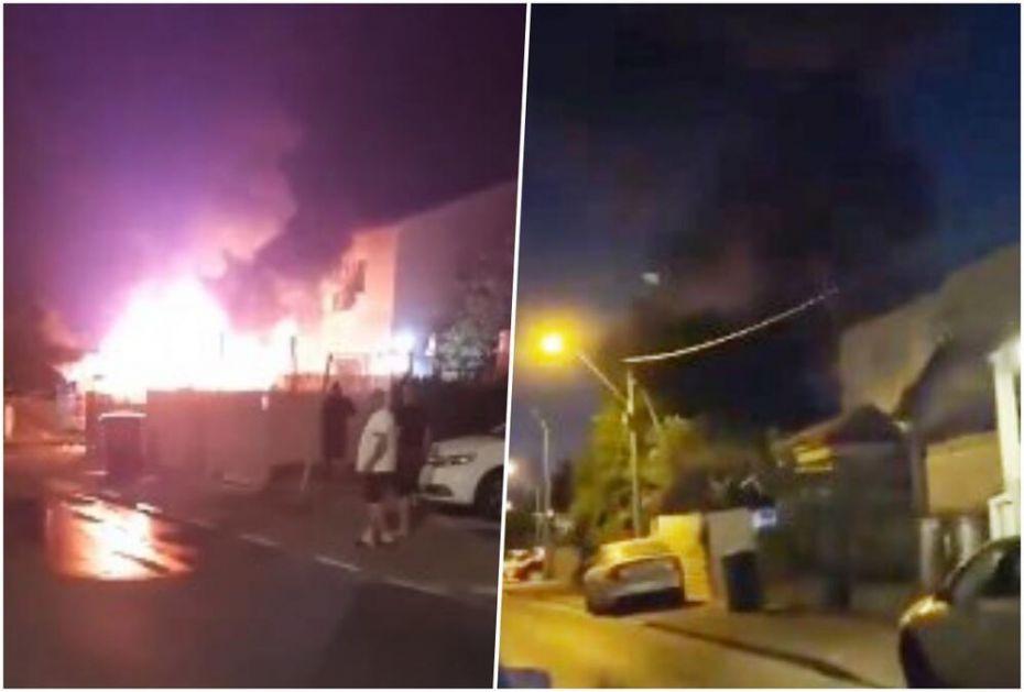 OVAKO IZGLEDA NAPAD IZ RAKETNE BAZE GAZA: Salve raketa lete na Izrael! Nebo usijano od raketnih motora i požara! VIDEO