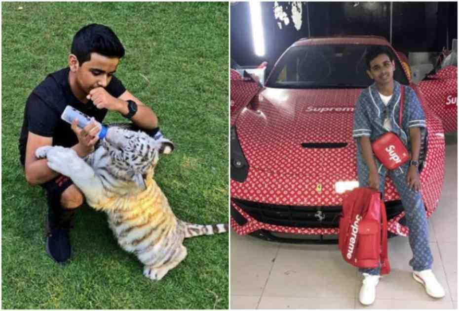 OVAKO ŽIVI NAJBOGATIJI TINEJDŽER (16) U DUBAIJU: Ima privatni zoo-vrt sa 500 životinja, kolekciju patika od milion dolara, a evo šta kaže poznatima koji hoće da ga posete! (FOTO)