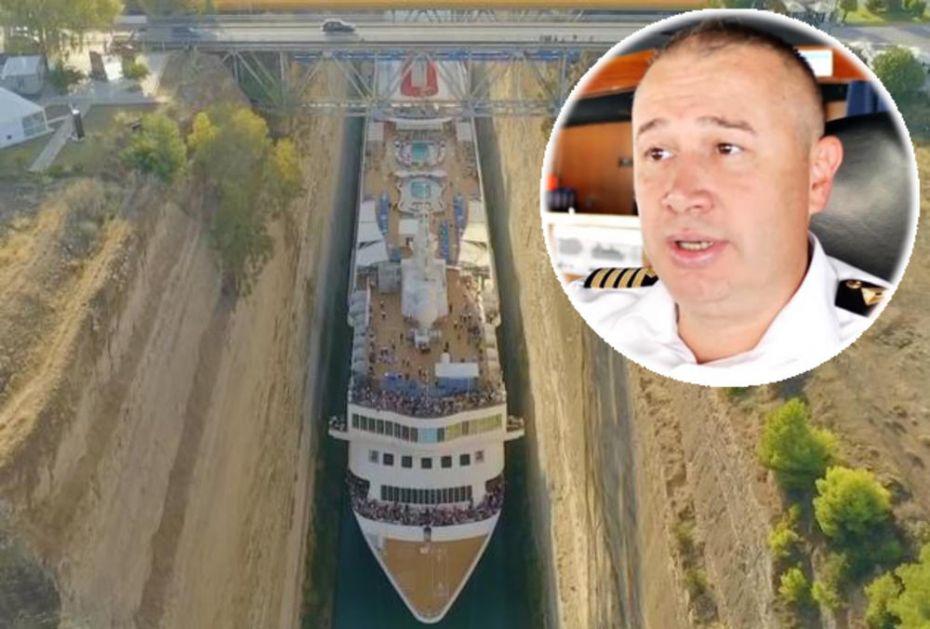 OVO JE KAPETAN KOJI JE OBORIO SVE REKORDE: Provukao se ogromnim kruzerom kroz uski Korintski kanal i zadivio ceo svet, a sada je otkriveno i da je iz našeg komšiluka! (VIDEO)
