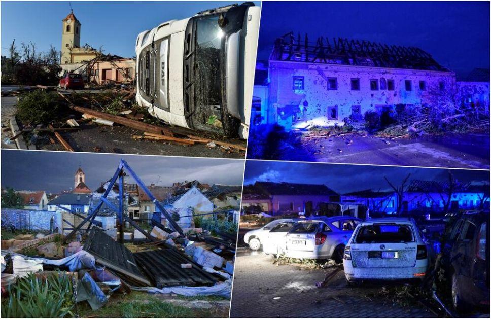 OVO JE PAKAO! Ovako izgleda Češka posle tornada, sve sravnjeno sa zemljom, 200 povređenih i najmanje 3 mrtvih VIDEO