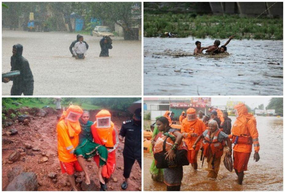 OVO LETO NE PRESTAJE NIŽE ŽRTVE: Na zapadu Indije najmanje 112 ljudi stradalo u poplavama i klizištima! Spaseno više od 1000!