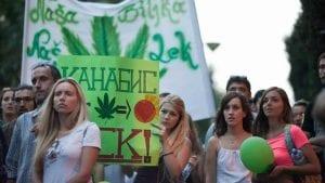 Obeležavanje Svetskog dana kanabisa 20. aprila ispred Vlade Srbije