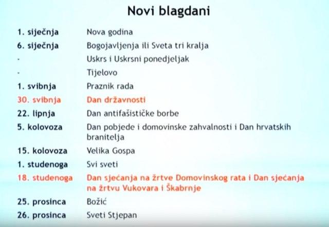 Objavljen novi kalendar državnih praznika u Hrvatskoj FOTO/VIDEO