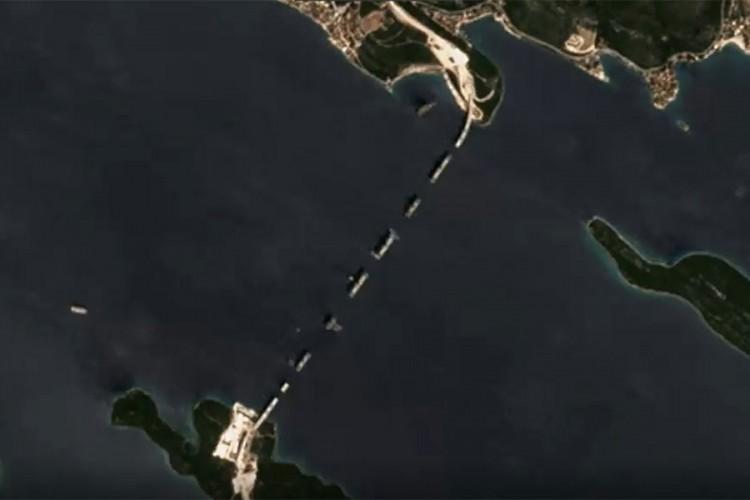 Objavljen satelitski snimak Pelješkog mosta