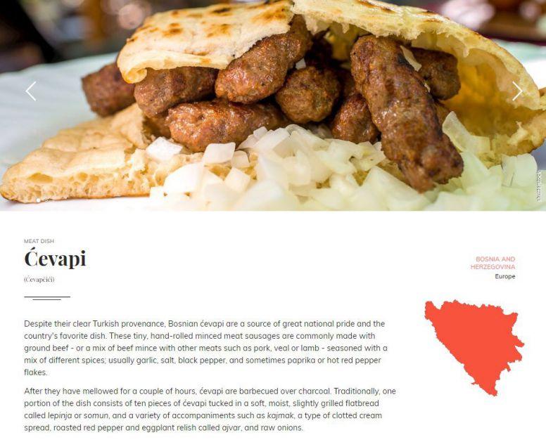 Objavljena lista najboljih jela na svetu, ćevapi u samom vrhu
