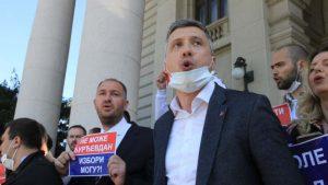 Obradović sa protestne vožnje u Čačku: Pobunom do odlaganja izbora