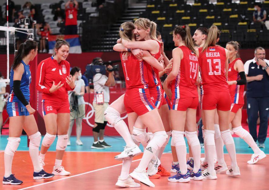 Ubedljiv poraz odbojkašica Srbije - ostaje borba za bronzu