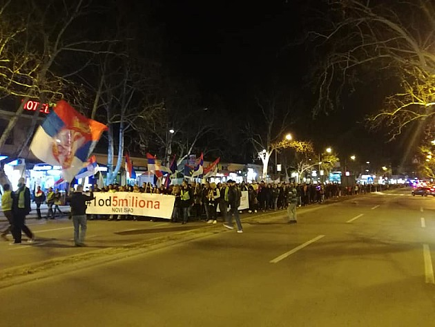 Održan deveti protest Jedan od pet miliona