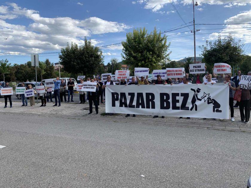 "Održan protest ""Pazar bez nasilja policije"""