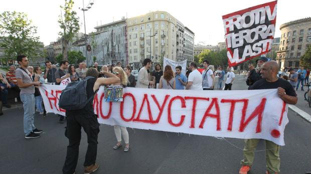 Održan protest u Beogradu, iste poruke