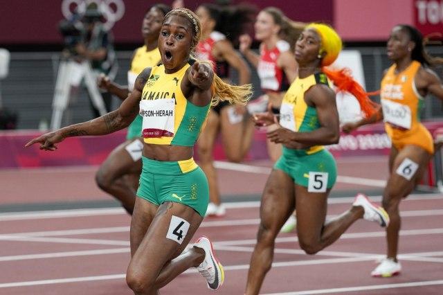 Olimpijski rekord na 100m  Jamajčanke podelile medalje