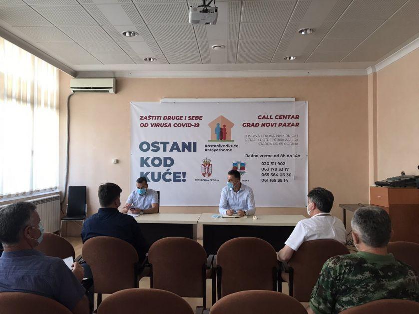 Operativni štab Novog Pazara bez podataka o broju oboljelih i umrlih