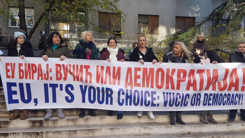Opozicija počela osmočasovnu blokadu RTS-a