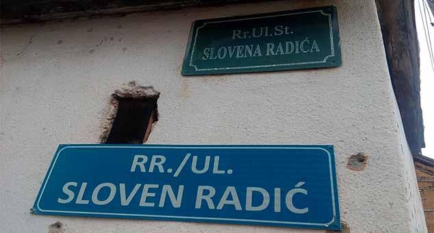 "Orahovac: Šiptari (nakratko) skinuli tablu ulice ""Slovena Radića"""