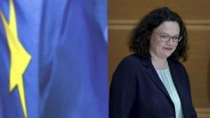 Ostavka predsednice nemačke SPD posle neuspeha partije na evropskim izborima