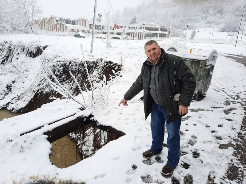 Oštećen most na Veternici u Golemom selu