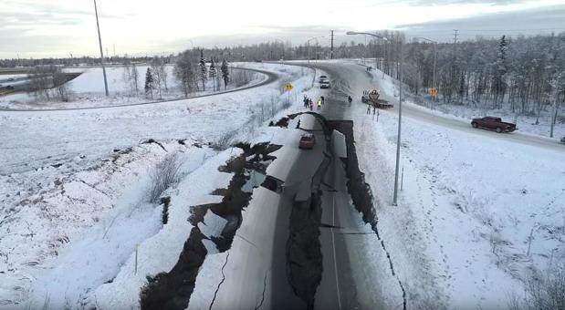 Oštećen put popravljen za 5 dana - na Aljasci to nije problem