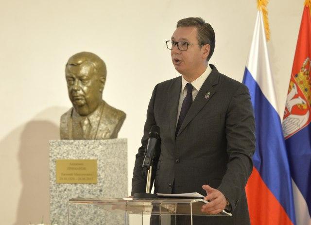 Otkrivena bista Primakovu; Vučić: Bio je u najtežim trenucima uz srpski narod