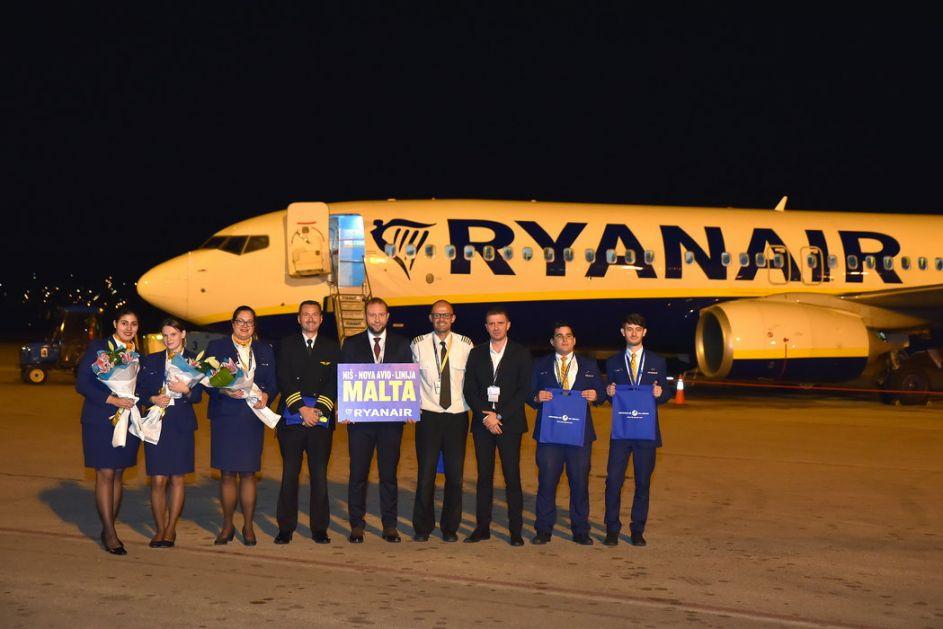 Otpočeli letovi Ryanaira na relaciji Malta-Niš-Malta