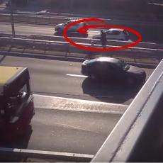 Ovako se GUBI GLAVA: Muškarac pretrčavao auto-put u Beogradu, vozila JURE u oba smera (VIDEO)