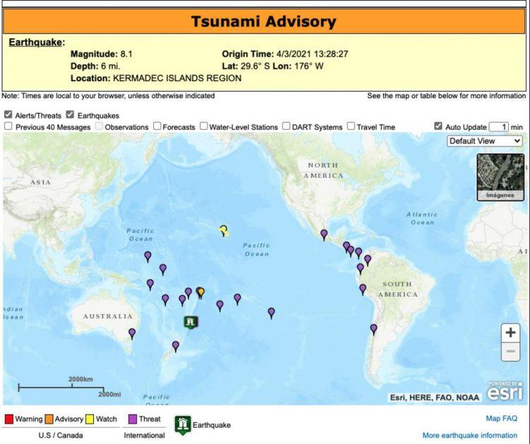 PACIFIK STREPI OD CUNAMIJA: Izdato upozorenje za čak 13 država posle zemljotresa na Novom Zelandu