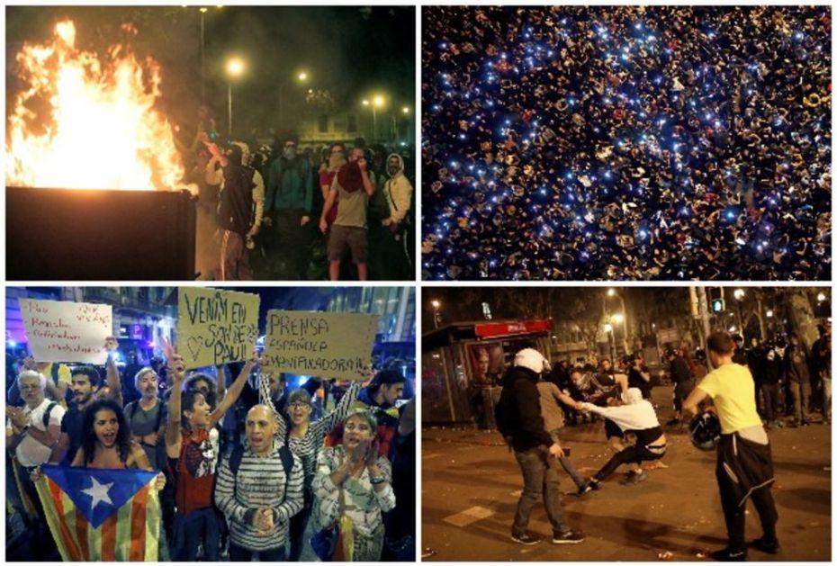 PAKAO OD NASILJA U BARSELONI! Separatisti ponovo JURIŠALI NA POLICIJU! 500 ljudi povređeno! (VIDEO, FOTO)