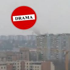 PANIKA NA NOVOM BEOGRADU! Evakuisana trudnica iz solitera, poznat je RAZLOG požara (VIDEO)