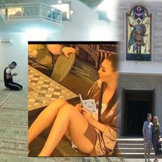 PAROVI VERNICI: Dok Kadra i Bels klanjaju u džamiji, Jelena i Ivan su otišli u pravoslavni hram (FOTO)