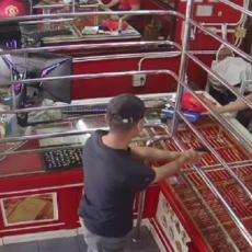 PAS UKRAO ŠOU! Pljačkaš ULETEO U ZLATARU i zapretio radnici: Reakcija životinje nasmejala je mnoge (VIDEO)