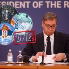 ZAVRŠENA SEDNICA: Gledajte UŽIVO PRENOS obraćanja nakon vanredne Sednice saveta za nacionalnu bezbednost (VIDEO)