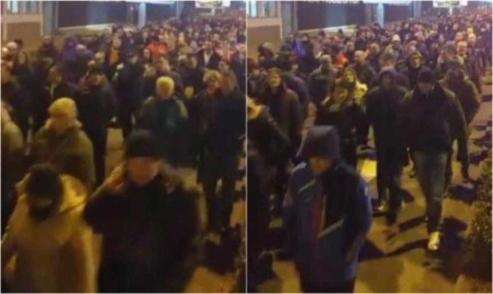 PODGORICA PONOVO NA NOGAMA: Više hiljada vernika brani srpske svetinje! Nema odustajanja! (VIDEO)