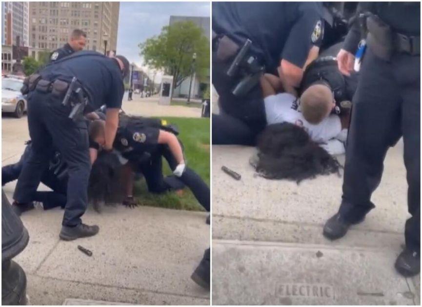 POLICAJAC UDARAO U GLAVU AFROAMERIKANCA KOJI JE LEŽAO NA ZEMLJI: Još jedan snimak uzburkao američku javnost VIDEO