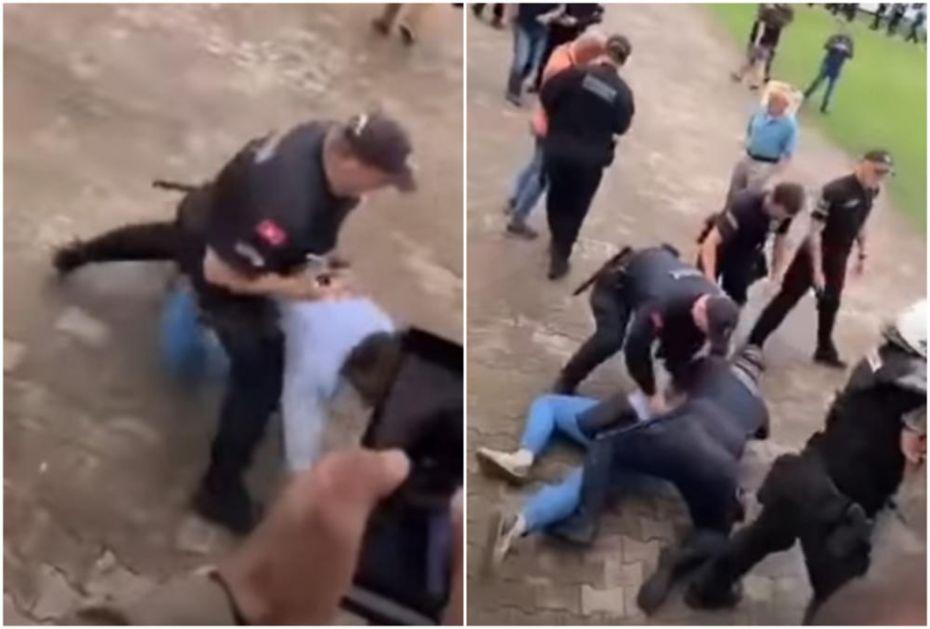 POLICIJA HAPSI RADOVIĆA, ŠARANOVIĆ ISKOČIO KROZ PROZOR DA GA ZAŠTITI: Neverovatne scene ispred zgrade Opštine u Budvi