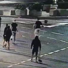 POLICIJA POTISNULA DEMONSTRANTE KA TERAZIJAMA: Huligani uzvratili kamenicama, letela je čak i LOPATA (FOTO/VIDEO)