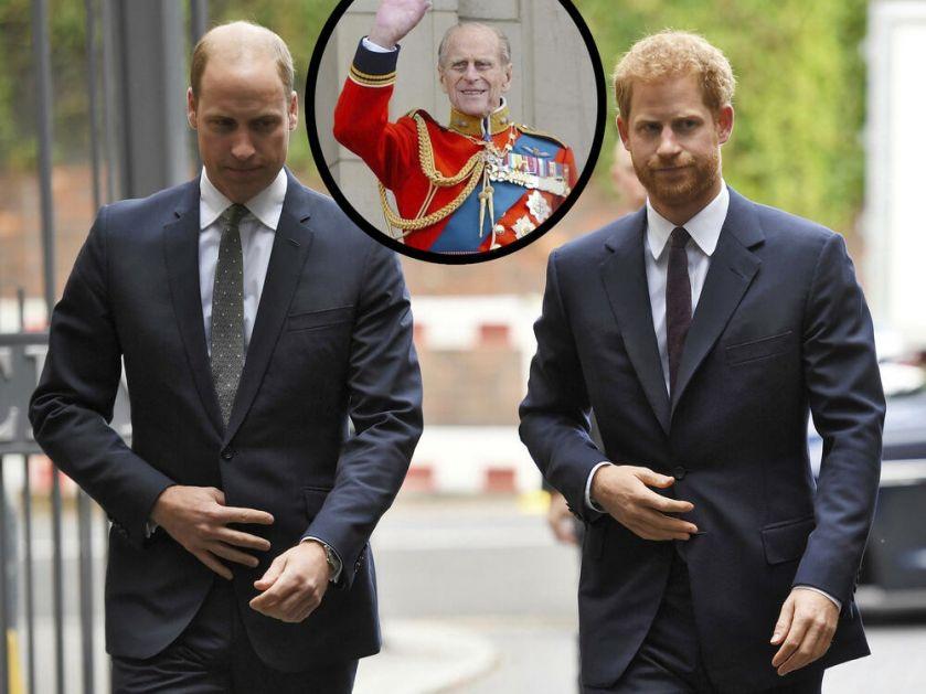 POMIRENJE BRAĆE NA SAHRANI Vilijam i Hari rame uz rame kraj sanduka princa Filipa, Megan ne dolazi