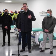 PONOSAN SAM ZBOG BRZINE IZGRADNJE Vučić: Čekamo kao ozeblo sunce da otvorimo ovaj zdravstveni centar