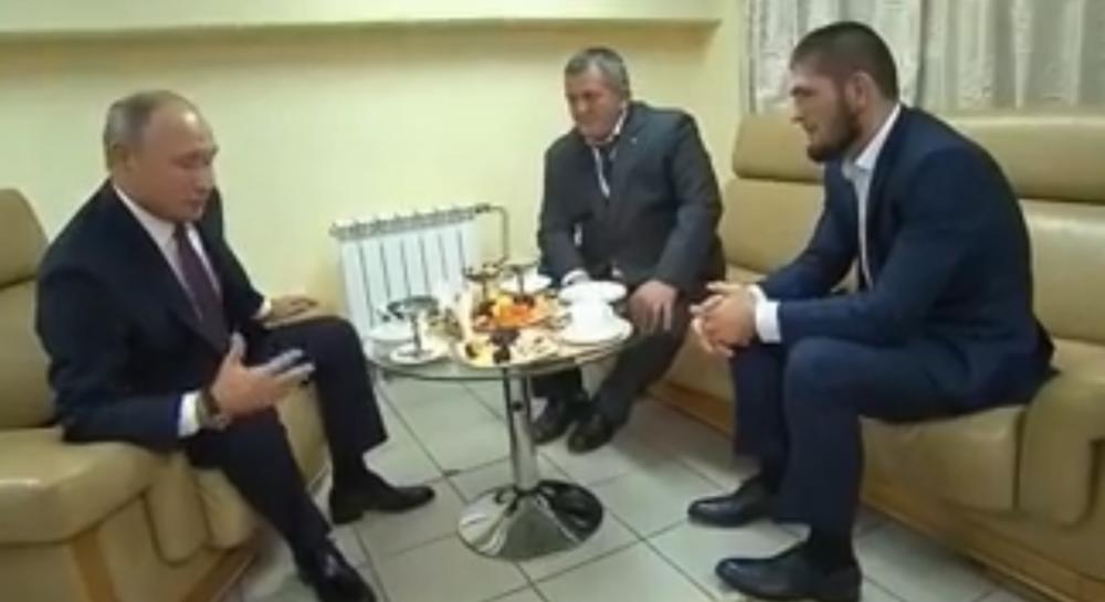PONOVO KOD SVOG PREDSEDNIKA NA PRIJEMU: Vladimir Putin čestitao Habibu na odbrani titule! (VIDEO)
