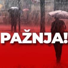PONOVO SPREMITE KIŠOBRANE! Očekuje nas snažno nevreme, širom Srbije jaki PLJUSKOVI SA GRMLJAVINOM (FOTO)