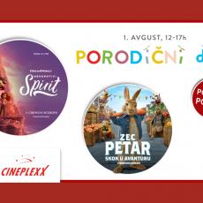 "PORODIČNI DAN UZ NOVE SINHRONIZOVANE AVANTURE: ,,Neukrotivi Spirit"" i ,,Zec Petar"" u Cineplexx Niš bioskopu 1. avgusta"