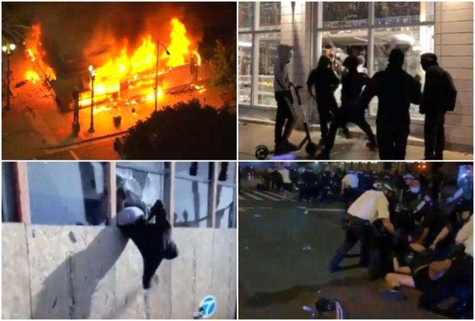 POTPUNA ANARHIJA U AMERICI: Kradu se gitare, satovi, odeća, a policija odgovara pendrecima! Neverovatni snimci nereda