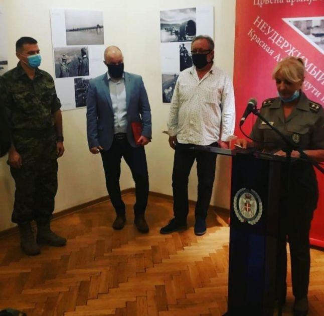 POVODOM 75. GODIŠNJICE OD ZAVRŠETKA DRUGOG SVETSKOG RATA Otvorena izložba Nezaustavljivi hod Crvene armije ka Berlinu