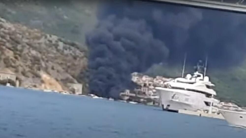 POŽAR KOD DUBROVNIKA: Pretakali benzin pa izazvali požar, uništeni gliseri i automobili VIDEO