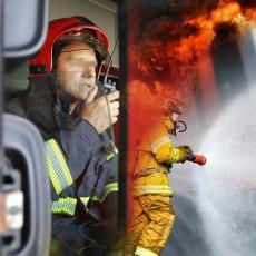 POŽAR U CENTRU NIŠA: Zgrada u plamenu, stanari hitno evakuisani vatrogasnom korpom (FOTO)