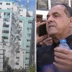 PREKLINJAO IZRAELCE DA TO NE ČINE, ALI DŽABA: Uništili ste nam živote - drama uoči bombardovanja zgrade (VIDEO)