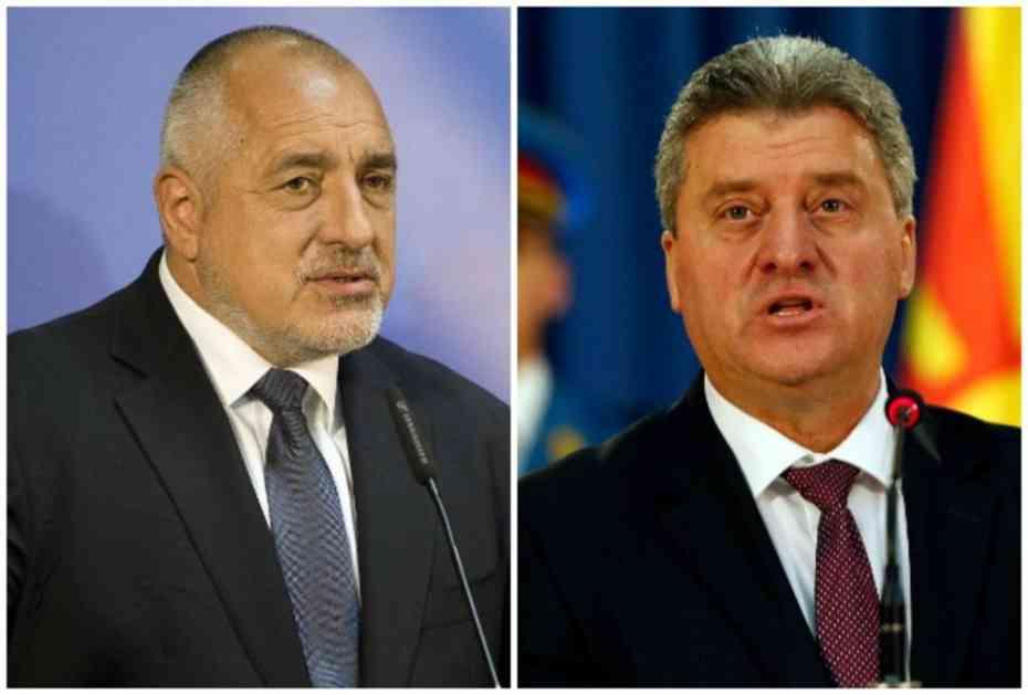PREMIJER BUGARSKE LJUT: Borisov odbio da se sastane sa Ivanovim u Sofiji