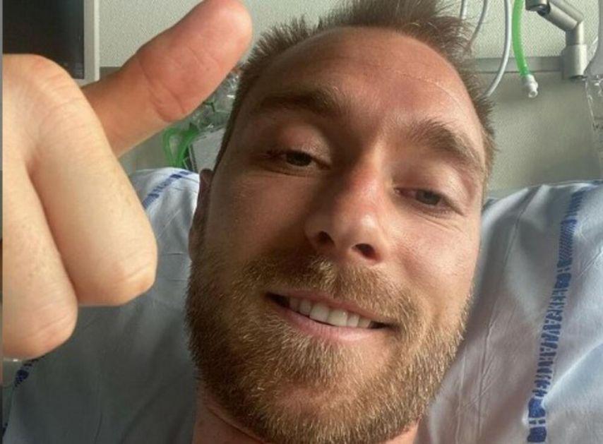 PRVA FOTOGRAFIJA KRISTIJANA ERIKSENA IZ BOLNICE: Danski fudbaler objavio selfi uz poruku koja ODZVANJA! (FOTO)