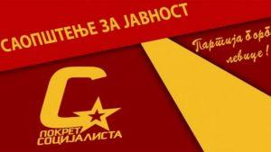 PS: List Danas i Nikola Lunić da upute izvinjenje biračima i članovima Pokreta socijalista