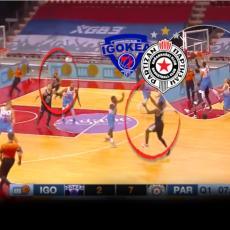 PUKLO U LAKTAŠIMA, ČUJE SE I U BG-U: To nije banana - to je PRVI tempo! A onda NBA alej-up Partizana (VIDEO)